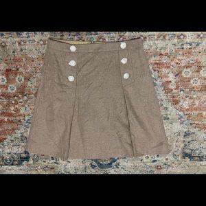 J.Crew Double Serge Wool Pleated Nautical Skirt